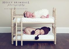 """Twin"" beds two cute! usually all baby pictures look similarly adorable.. but this is just tooooo precious for me to not pin."