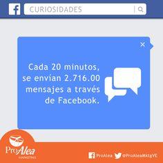 Cada 20 minutos en #Fcebook. #ProAlea #Marketing #SocialMEdia #3.0