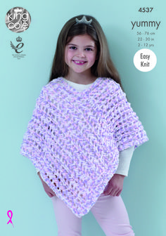 Add a trendy touch to your girl's wardrobe with our Poncho pattern. Kids Poncho Pattern, Poncho Knitting Patterns, Knitted Poncho, Toddler Poncho, Girls Poncho, Baby Poncho, Crochet Girls, Crochet For Kids, Jackets