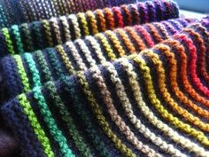 Ridge and Furrow Scarf by Sue Grandfield [I love the simplicity of this pattern, but how effective].