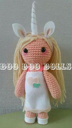 Amigurumi Unicorn doll @ BooBooDolls £25 + p&p find us on Facebook @BooBooDolls and instagram @booboodolls1 to order