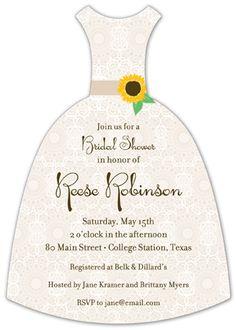 Sweet Sunflower Bridal Shower Invitation.