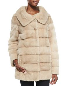 Mink Fur/Taffeta Reversible Coat by Oscar de la Renta at Neiman Marcus.