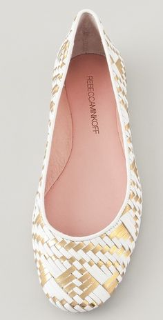 these rebecca minkoff flats come in metallic too!