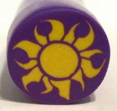 Tangled Sun Motif Polymer Clay Cane tutorial