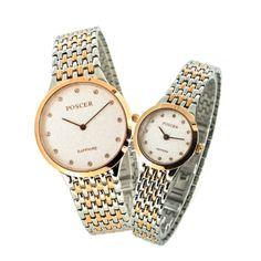Fine Gold Round Couple Quartz Watch