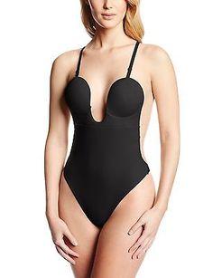 f91950fe7a3c Fashion Forms U Plunge Backless Strapless Bodysuit Womens Bodysuit, Black  Bodysuit, Backless Body Shaper
