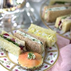A delicious assortment of traditional English tea sandwiches for the perfect afternoon tea! Classic egg, smoked salmon, cucumber, and chicken with cranberry! English Tea Sandwiches, High Tea Sandwiches, Finger Sandwiches, Cranberry Tea, Best Cooker, Afternoon Tea Recipes, Four, Food And Drink, Cooking