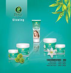 Dew Herbal skincare  Glowing range! Dew Mineral mask Dew Finishing mask  Dew Indian skin polish