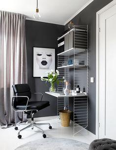 Is To Me - Scandinavian Design, Homeware, Accessories & Nordic Home, Scandinavian Home, String Regal, Condo Interior Design, Office Shelving, Study Room Decor, Home Office, Small Spaces, Locker Storage