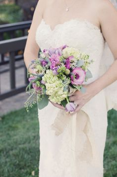 Purple and Green Bouquet   photography by www.whiteivorypho...