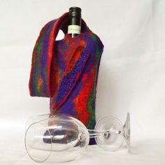 Felted Bottle Bag Australian Merino Wool Opal by juliaheartfelt, $59.00