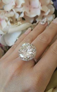 18.26 Carat GIA Cert Round Brilliant Cut Diamond Platinum Ring | From a unique…