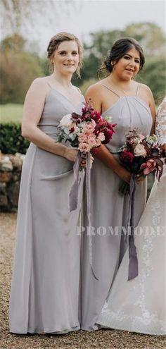 A-line Floor-length V-neck Sleeveless Spaghetti Starps Bridesmaid Dresses, BD1017#bridesmaids #bridesmaiddress #bridesmaiddresses #dressesformaidofhonor #weddingparty #2020bridesmaiddresses