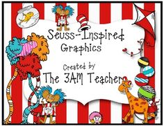 I have created a bright, fun and energetic collection of themed graphics inspired by the world of Dr. Seuss. The set includes over 80 graphics in c...