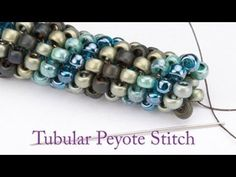 Video: Artbeads Mini Tutorial - Tubular Peyote with Leslie Rogalski #Seed #Bead…