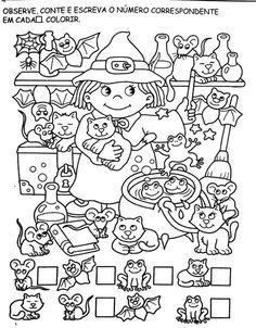Free Preschool, Kindergarten Worksheets, Worksheets For Kids, Color Activities, Activities For Kids, Brain Teasers Riddles, Sudoku, Halloween Worksheets, Paper Pop
