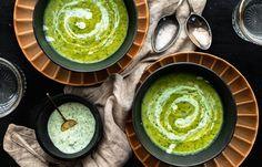 Courgette-preisoep met een dillesausje Real Food Recipes, Healthy Recipes, Healthy Dinners, Healthy Food, Cottage Cheese, Palak Paneer, Hummus, A Food, Lunch