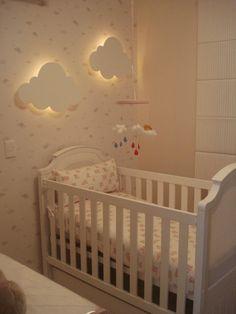 Idee cameretta bimbi - luce diffusa a forma di nuvola, anche fai da te - la scelta giusta per la stanza dei più piccoli è quella di una luce delicata e tenue