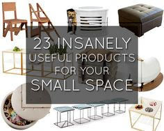 23 Insanely Clever Products For Your Small Space ... I want it all. Especially the bicycle shelves.