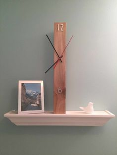 Items similar to Modern Wooden Wall Clock on Etsy Wooden Decor, Wooden Crafts, Wooden Walls, Clock Art, Diy Clock, Deco Luminaire, Diy Furniture Hacks, Cool Clocks, Modern Clock