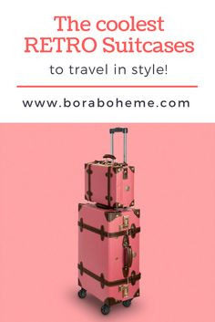 Lightweight vintage suitcases made of recyled material! Only Fashion, Fashion Group, Vintage Suitcases, Grow Together, Retro Design, Ethical Fashion, Wall Prints, Vintage Looks, Travel Style