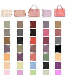 Подбор цвета туфлей к цвету сумки