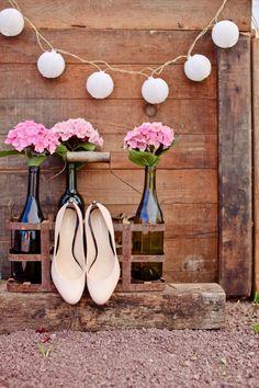 mariage champêtre centerpiece wedding centre de table