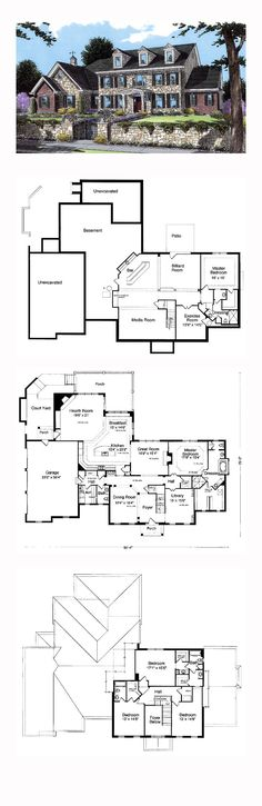 COOL House Plan ID: chp-24943 | Total Living Area: 4222 sq. ft., 4 bedrooms and 3.5 bathrooms. #inlawsuite