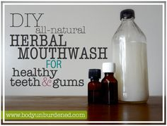 This DIY all-natural herbal mouthwash for healthy teeth & gums keeps bad breath away while helping to remineralize teeth and protect the gums. Healthy Teeth, Healthy Man, Healthy Herbs, Healthy Habits, Bad Breath, Beauty Recipe, Tips Belleza, Belleza Natural, Oral Health