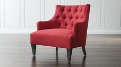 "Tess Chair | Crate and Barrel looks great in color ""Rasberry"""