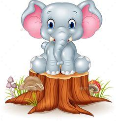 Cute Elephant Cartoon, Cute Baby Elephant, Elephant Nursery, Baby Cartoon, Giraffe, Elefant Clipart, Drawing For Kids, Art For Kids, Baby Animals