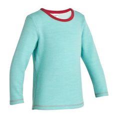 Senderismo Junior Deportes de Montaña - Camiseta de lana merina para Bebé azul QUECHUA - Deportes de Montaña