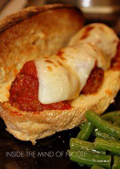 Meatball Marinara Subs- my hubby will love this recipe..