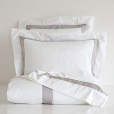 SATIN BED LINEN WITH CONTRASTING RIBBON - Bed Linen - Bedroom | Zara Home Sweden
