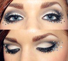Maquiagem com strass adesivo
