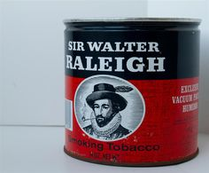 Vintage Sir Walter Raleigh Tobacco Can - Excellent Condition on Etsy, $8.00