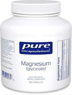 Amazon.com: Pure Encapsulations - Magnesium (glycinate) 180's (Premium Packaging): Health & Personal Care