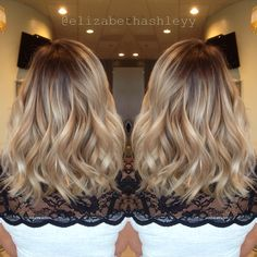 Rooty Balayage Blonde. Dimension will never go out of style.