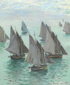 Claude Monet (1840-1926) Bateaux de pêche, temps calme -1868