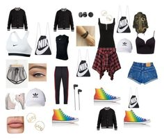 A fashion look from September 2017 featuring shirt top, camo jackets and jean shorts. Browse and shop related looks. Bling Jewelry, Lanvin, Off White, Madewell, Converse, Adidas, Play, Shoe Bag, Nike