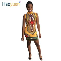 >> Click to Buy << 3XL 2017 Women Casual Summer Dress Sexy Folk Art African Print Dresses Ladies Vintage Dashiki Dress Bodycon Plus Size Clothing #Affiliate