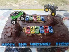 Monster Truck Cake If Tobey is still into monster trucks this summer I do believe this idea will be his cake!!