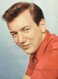 """Bobby Darin (1936 - 1973) Pop singer in the 1960s and 1970s, """"Splish Splash"""", """"Mack the Knife"""", sang the theme song for the movie """"That Darn Cat!"""""""