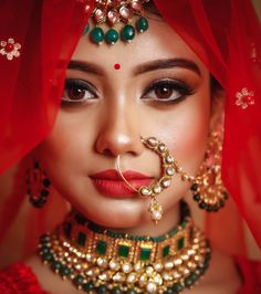 Here Are Some Indian Bridal Makeup Images To Give You Some Much-Needed Makeup Inspiration Indian Wedding Poses, Indian Bridal Photos, Indian Wedding Couple Photography, Indian Wedding Makeup, Bridal Photography, Bride Indian, Bengali Bride, Photography Ideas, Indian Bride Poses