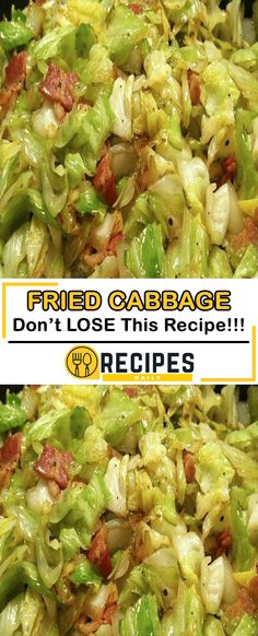 FRIED CABBAGE RECIPE Southern Fried Cabbage – So simple yet absolutely ADDICTING! Bacon gives it the smoky flavor that is put over the top by a little bit of brown sugar and apple cider vinegar! Ww Recipes, Side Dish Recipes, Veggie Recipes, Vegetarian Recipes, Healthy Recipes, Snacks Recipes, Waffle Recipes, Burger Recipes, Recipies