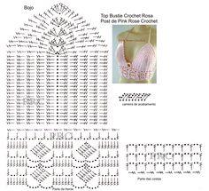 Resultado de imagen para top cropped croche grafico