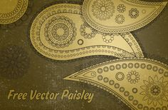 Free Vector Paisley Patterns