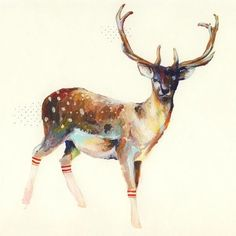 Deer tattoo - really like the water color look