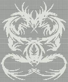 ePier - New Filet Crochet Pattern/Afghan - Double Dragon